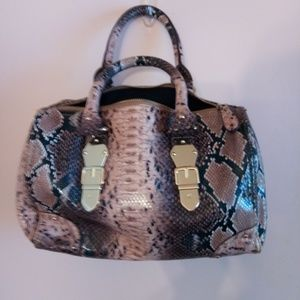 ALDO FAUX SNAKE SKIN SHOULDER BAG